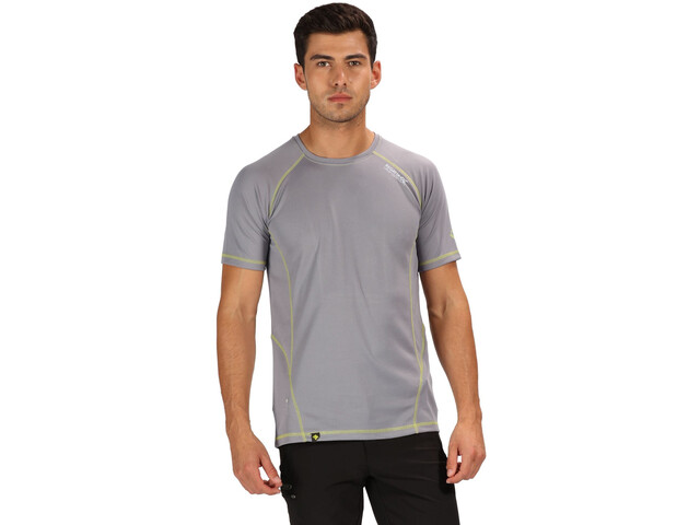 Regatta Virda II T-Shirt Homme, rock grey/lime punch